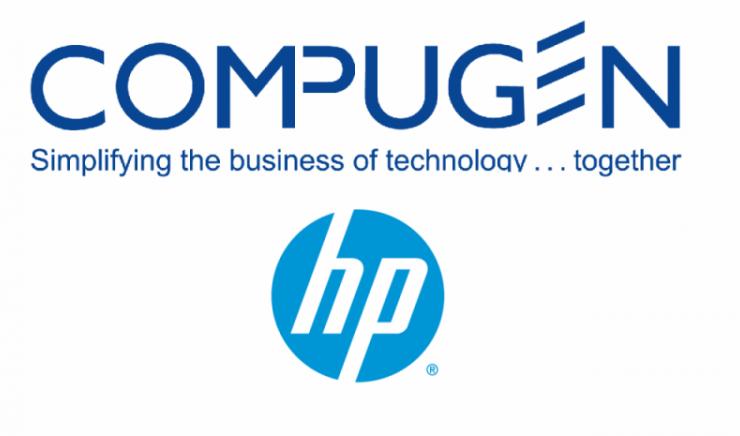 Compugen and HP logo